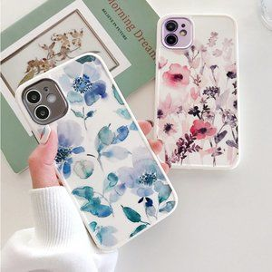 NEW iPhone 12/11/Pro/Max Watercolor Flowers case